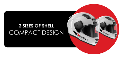 2 sizes of shell